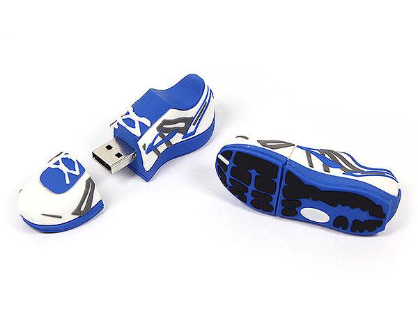 sportschuh-usb-stick blau weiß, Custom USB-Sticks