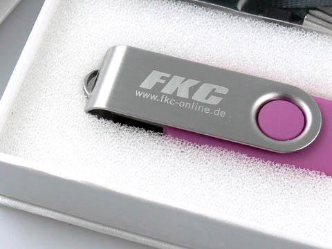 Swing USB-Stick Metall-Buegel rosa, Metall.01