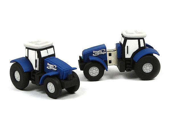Traktor, trecker, Landwirtschaft, blau, Schlepper, Trekker, CustomModifizierbar, PVC