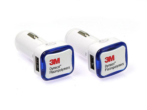 USB Autoladegerät, car charger Referenzen, bedruckte Beispiele
