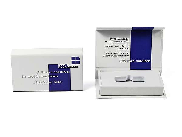 usb box verpackung magnetbox weiss logo