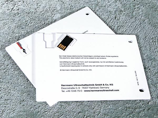 usb karte lochung postkarte
