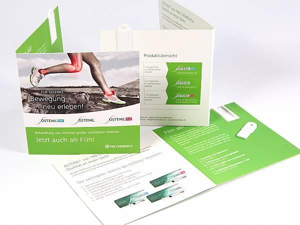 usb klappkarte papier karte werbung aufdruck