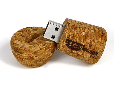 USB-Korken-03 Champagner braun graviert, gravur, USB-Korken.03