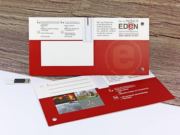 usb mailing card papierkarte karte werbung