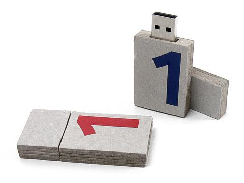 USB-Paper-03 USB-Stick Papier karton grau, USB-Paper.03