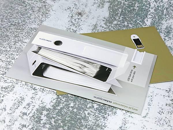 usb papier karte mailing card din a5 werbung
