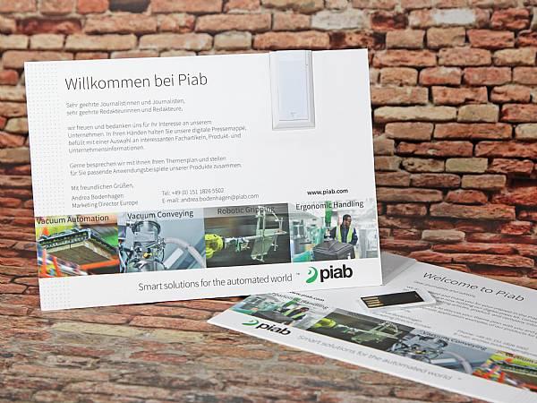 usb papierkarte dina6 postkarte digitaldruck werbung