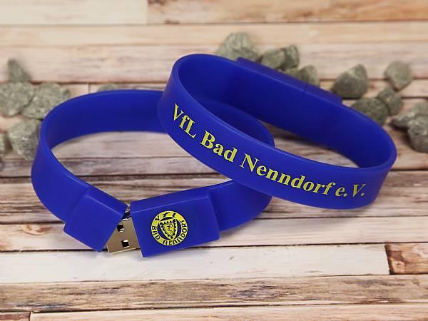 usb stick armband blau werbung