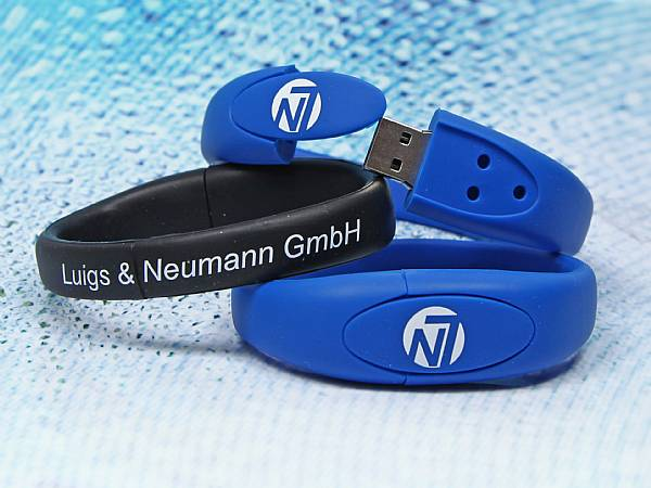 usb stick armband trendy farben logo werbung