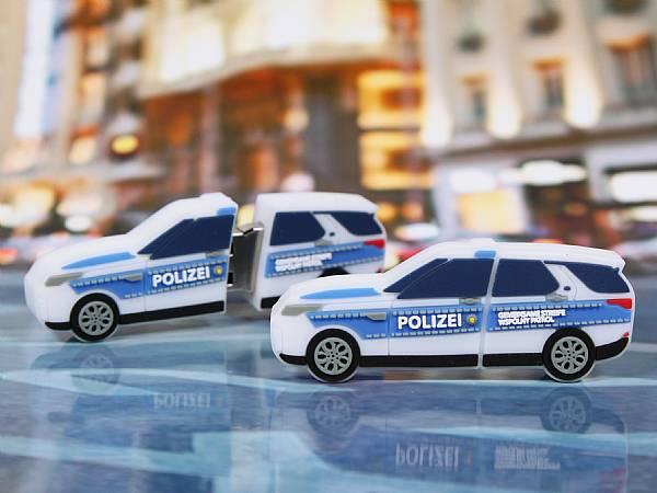 usb stick auto polizei verkehr polizeiauto werbung