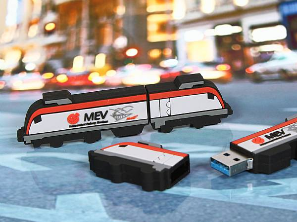 usb stick bahn transport zug speed werbung logo