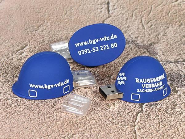 usb stick bauhelm handwerk arbeitsschutz helm logo werbung