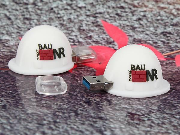 usb stick bauhelm helm schutz arbeit baustelle logo werbung