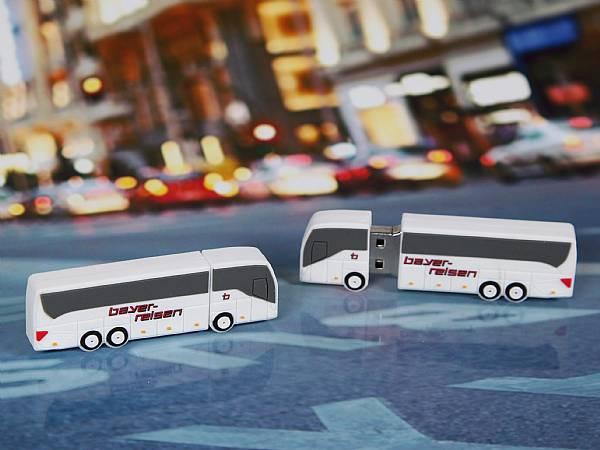 usb stick bus transport fahrzeug logo werbung