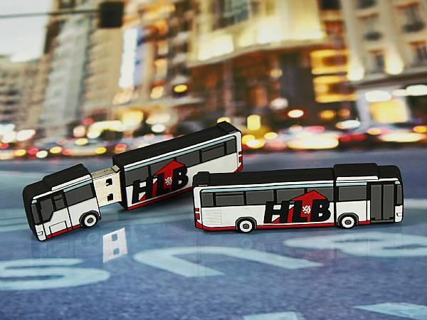 usb stick bus verkehrsmittel transport werbung