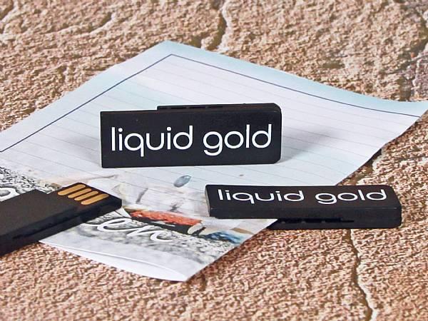 usb stick clip flach kunststoff bueroklammer werbung logo