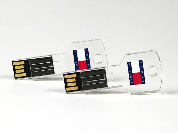 USB Stick Crystal in Schlüsselform, praktisch als Schlüsselanhänger, Schlüsselbund