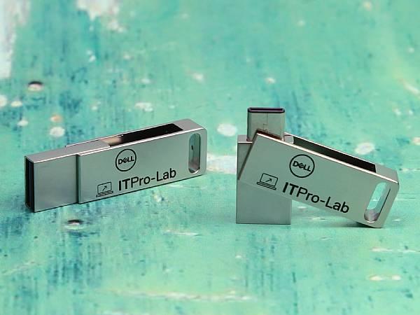 usb stick dual metall drehbar logo werbung