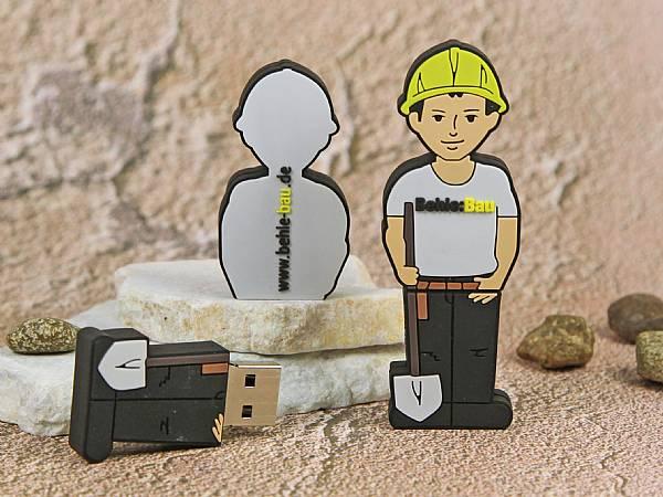 usb stick figur bauarbeiter arbeit bau beruf