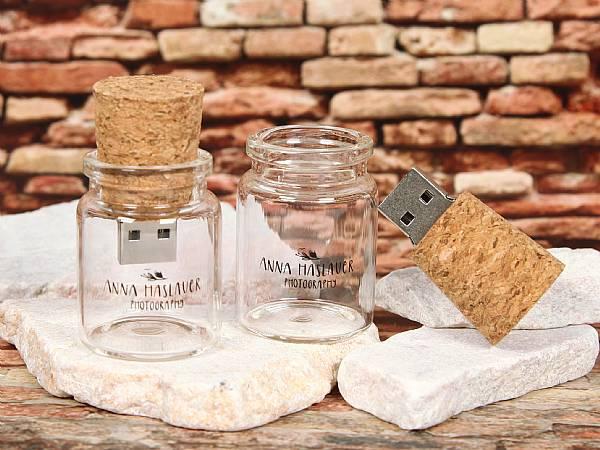 usb stick flaschenpost korken glasflasche kreativ