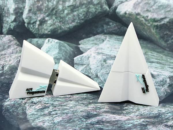 usb stick flieger papierflieger flugzeug schule sonderanfertigung
