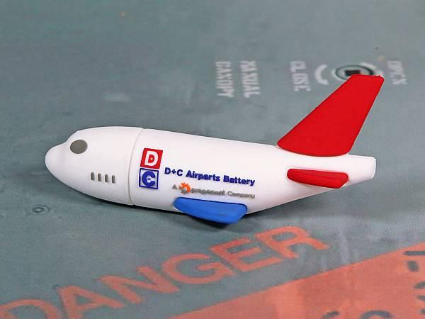 usb stick flugzeug transport tourismus flieger logo werbung