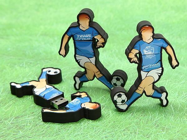 usb stick fussball mann trikot kreativ individuell blau weiss