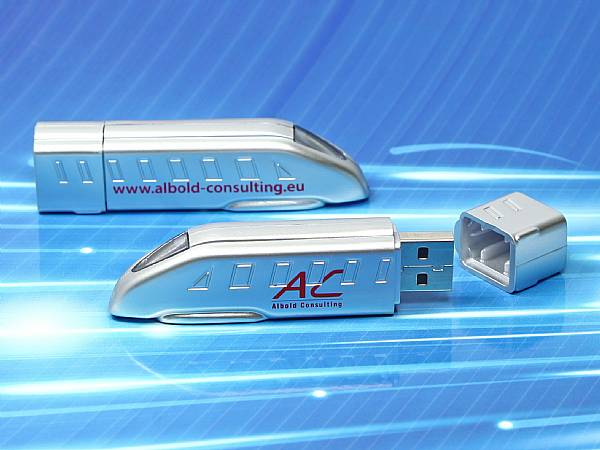 usb stick future train zug bahn silber modern