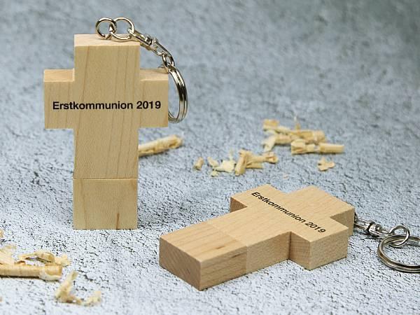 usb stick holz kreuz holzkreuz kommunion religion christ