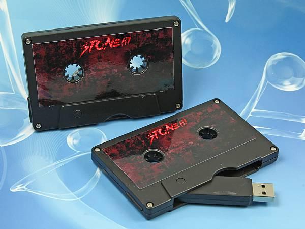 USB-Stick Kassette beidseitig bedruckbar als Werbegeschenk für Musiker und Bands