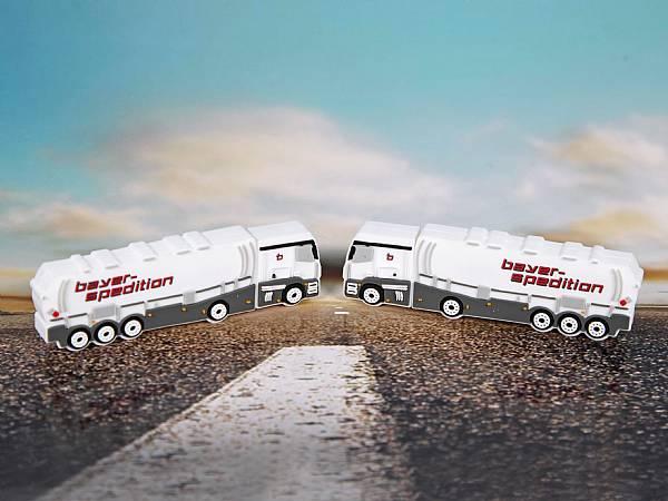 usb stick lkw transport truck auto werbung logo