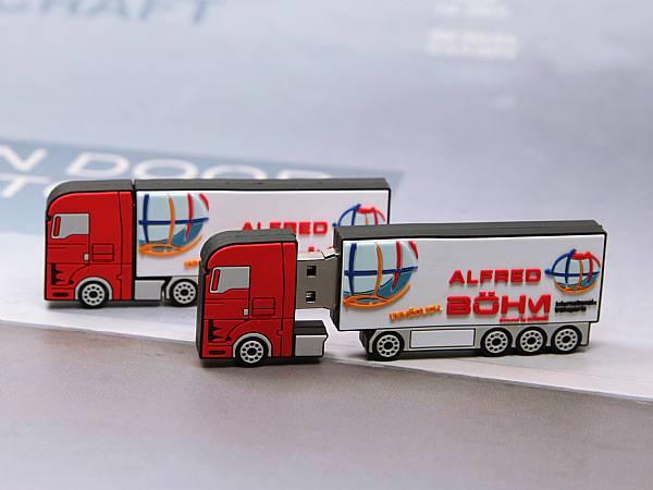 usb stick lkw transport truck verkehr ladung logo
