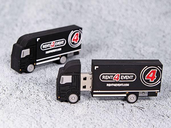 usb stick lkw transport truck verkehr logo werbung