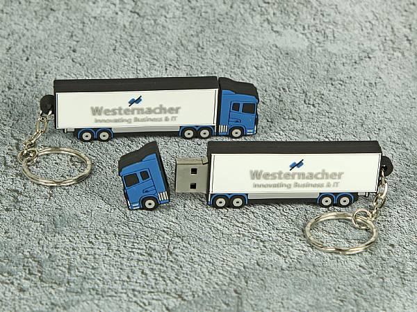 usb stick lkw truck transport spedition logo werbung