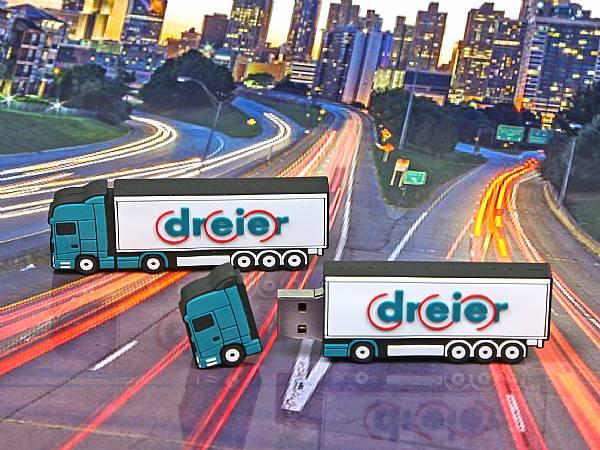 usb stick lkw truck transport verkehr werbung logo