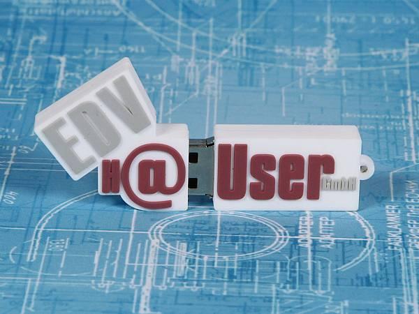 usb stick logo freiform logowerbung sonderanfertigung idee individuell