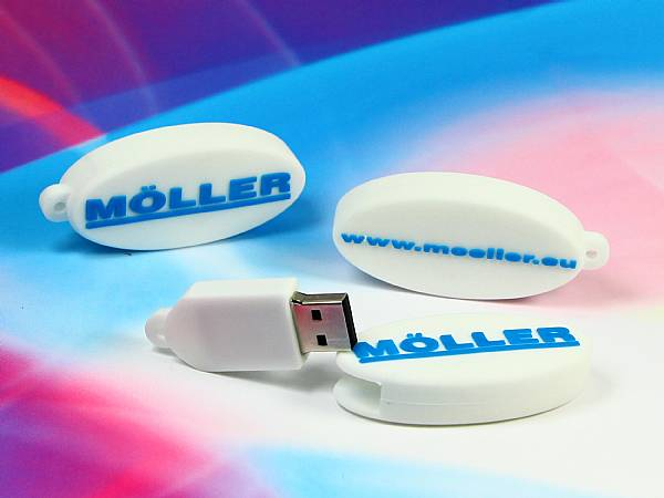 Ovaler USB-Stick in Logoform