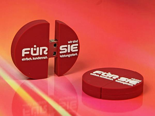 usb stick logo rund rot individuell werbung