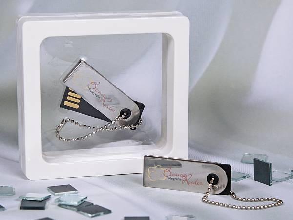 usb stick mini drehbar buegel kette digitaldruck logo