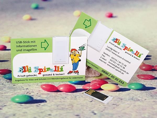usb stick papier visitenkarte werbung digitaldruck logo