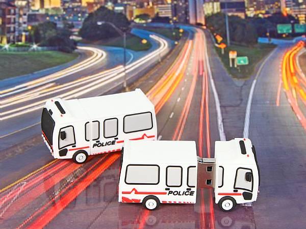 usb stick polizei auto transporter kastenwagen fahrzeug