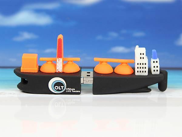 USB-Stick in Form eines Schiffs, Seefrachter, Boot, Kreuzfahrtschiff