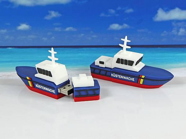 usb stick schiff boot motorboot kuestenwache werbung