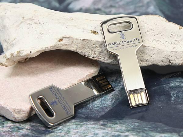 usb stick schluessel key glanz silber edel werbung