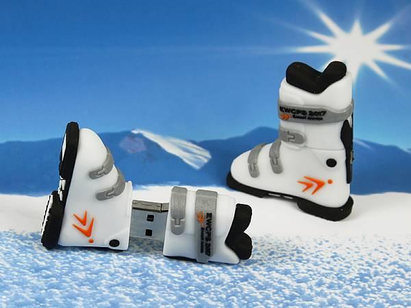 usb stick skischuh winter schnee sport werbeartikel