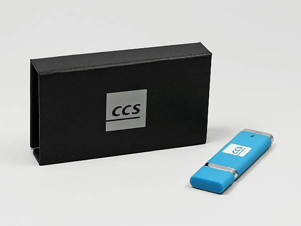 usb stick standard geschenkverpackung logo silber