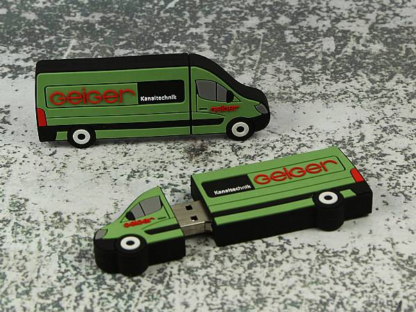 usb stick transporter gruen logo auto