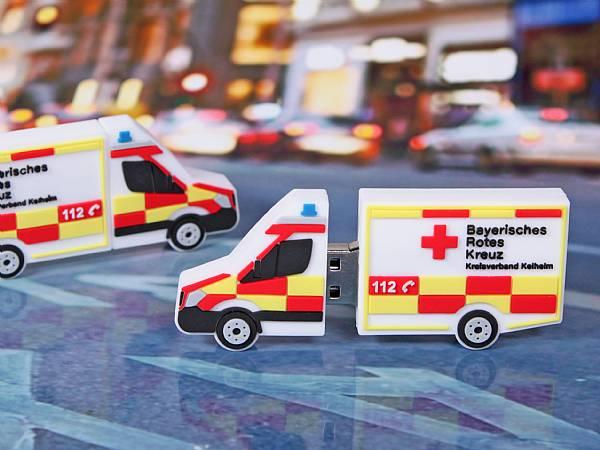 usb stick transporter kastenwagen rotes kreuz krankenwagen