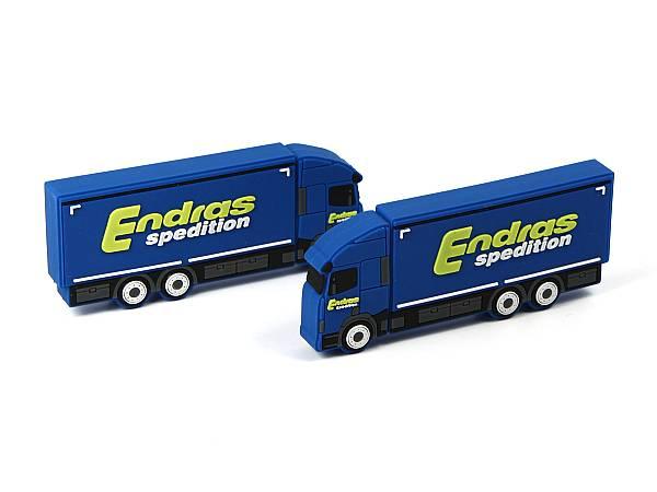 usb stick transporter lkw blau logo gelb